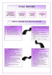English teaching worksheets: Film reviews | write a film review ...