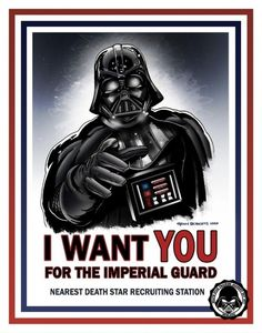 Darth Vader Sith Recruiting Poster ~ Okay, but can I move up the power chain more quickly, if I become your Apprentice, Master?!