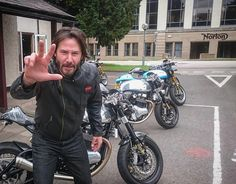 """4,191 Likes, 56 Comments - Norton  (@norton.motorcycles) on Instagram: """"Keanu Reeves at the Norton factory. #norton #keanureeves #motorcycle #nortonclothing"""""""