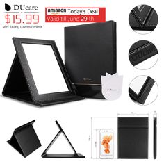 Amazon Today's Deal --- $15.99 for DUcare Tabletop Vanity Makeup Mirror Portable Folding Mirrors with Standing Large ::::::::Valid till 6AM June 29th. http://www.ducare.cc/index.php/folding-portable-makeup-mirror