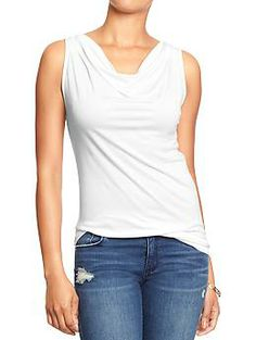 Womens Cowl-Neck Sleeveless Tops - Old Navy