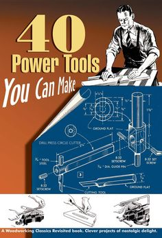 """Enjoy this """"how-to"""" excerpt on the assembly of a hand-powered drill press from 1941, when basic construction materials were scarce."""