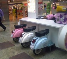 Braehead Shopping Centre Ice Cream bar Let's ride Vespa and eat ice cream... at the same time!