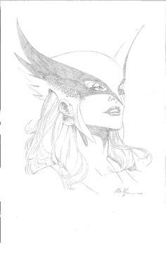 Hawkgirl, in AnushCollinss DC Gallery Comic Art Gallery Room - 1000592