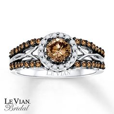 LeVian Chocolate Diamonds 3/4 ct tw Engagement Ring 14K Gold ~Merry Christmas to me!!