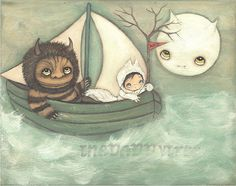 Where The Wild things Are Print Moishe Childrens by thepoppytree ahhh my fav etsy shop I want them allllll