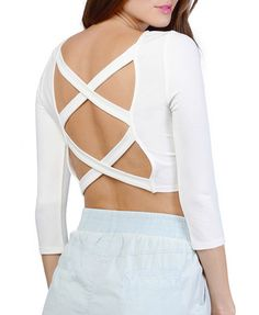 Back Cross Cutout Bodycon T-shirt
