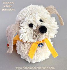 Tutoriel faire un chien avec des pompons en laine