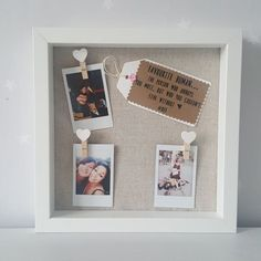 Best Friends Framed Gift. A perfect keepsake that is ideal as a gift for your best friend, their birthday, or for a special occasion; show that special someone how much they mean with the gift of handmade. The frame is available in white and it measures a (creative ideas for friends)