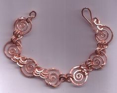 Copper Bracelet.  Round And Round. Nice Lady by craftedbyanicelady, $24.00
