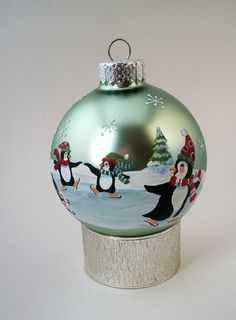 Hand Painted Christmas Ornament Frolic & by StarofWonderDesigns, $25.00
