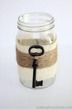 Glimpse of Spring: Embellished Mason Jar Vase