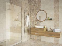 Série obkladů a dlažeb Utopie ve světlých zemitých barvách rozzáří jakoukoliv koupelnu. Obklady nabízíme ve formátu 25 x 40 cm. #keramikasoukup #koupelnyodsoukupa #serieutopia #utopia #inspirace #inspiration #inspiracekoupelny #svetlakoupelna Vanity, Mirror, Bathroom, Tile Ideas, Cement, Furniture, Home Decor, Design, Dressing Tables