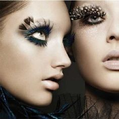 feathers and leopard print lashes, well done!