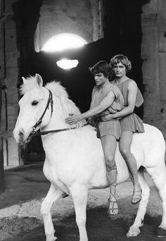 "Hiram Keller, Martin Potter in ""Fellini Satyricon"" (1969). Director: Federico…"