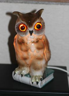 Porcelain Owl Perfume Lamp 1920s Working Stamped Crown & S | eBay