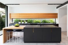 For sale: 139 Boundary Street, Clovelly, NSW Kitchen Island And Table Combo, Modern Kitchen Island, Kitchen Benches, Kitchen Stools, Studio Kitchen, New Kitchen, Kitchen Ideas, Kitchen Redo, White Kitchen Appliances