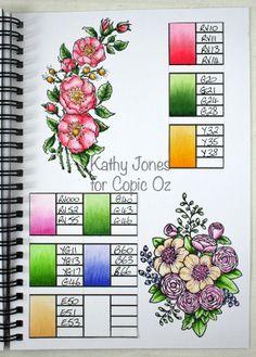 copic oz: Copic Technique Journal - Colour Swatches
