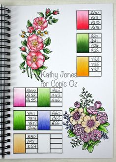 Copic Technique Journal (and free printable blending template)