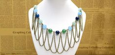 A Chic Bead and Chain Fringe Necklace Design in 3 Easy Steps - I would probably replace the beads with different colors.