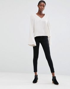 MINIMUM MOVES ENNY FLARED SLEEVE BLOUSE #style #fashion #trend #onlineshop #shoptagr