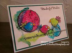 Leuke Stempels: Lovebirds
