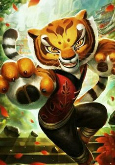 Kai Fine Art is an art website, shows painting and illustration works all over the world. Tigress Kung Fu Panda, Po Kung Fu Panda, Po And Tigress, Dreamworks Movies, Dreamworks Animation, Disney And Dreamworks, Animation Film, Animé Fan Art, Dragon Warrior