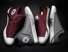 Who's ready for more? the Converse Chuck Taylor All Star II in Bordeaux and Gray now available in select markets. by converse Mode Converse, Converse All Star, Converse Shoes, Tenis Converse, Chuck Taylors, Converse Chuck Taylor 2, Chuck Ii, Pullover Shirt, Me Too Shoes