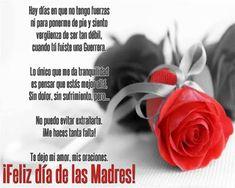 Tarjetas de Feliz día de las Madres Hasta el cielo Mom Poems, Mothers Day Quotes, Mothers Day Cards, Mom Quotes, Happy Mothers, Mom In Heaven, Miss You Mom, Catholic Prayers, Sign Printing