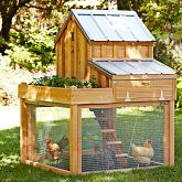 Williams Sonoma: Cedar Chicken Coop & Run with Planter