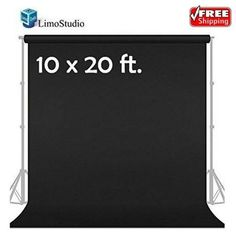 This LimoStudio 10' x 20' Photo Video Studio Solid Black Muslin Backdrop Background is a machine washable seamless and weaving surface. Crimped along the edge to prevent tears it is ideal for portraits and object product shooting.   eBay!