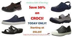 HOT BUY! 50% Off Crocs Shoes! Today Only! As Low As $10.59! Choose styles for men, women and kids! Shoes, sandals and even sneakers!  Click the link below to get all of the details ► http://www.thecouponingcouple.com/50-off-crocs-shoes-today-only-as-low-as-13-99/ #Coupons #Couponing #CouponCommunity  Visit us at http://www.thecouponingcouple.com for more great posts!