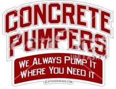 Sticker Portrait Custom Concrete Pump Operator Skilled Enough Sticker
