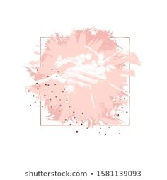 Similar Images, Stock Photos & Vectors of Abstract pink brush background with rectangle geometric frame rose gold color. Logo background for beauty and fashion - 1316150948 Brush Background, Vector Background, Instagram Highlight Icons, Rose Gold Color, Brush Strokes, Backdrops, Illustration, Stock Photos, Makeup Business Cards
