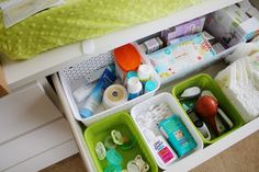 Everything Emily: How To: Setting Up a Baby Changing Station..