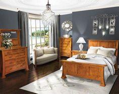 Bedroom - Update dated Honey / Golden Oak furniture with a more modern design palette