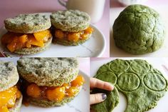 Green Tea and Mango Sandwiches