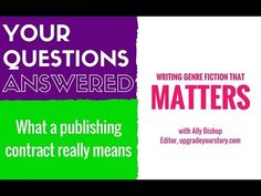 What does a publisher's contract really mean?