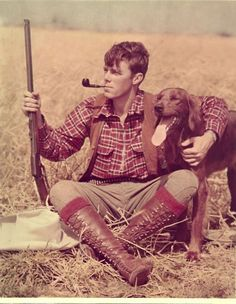 A good rifle, a good dog, a good pipe, a good pair of boots and the outdoors soothe a man's soul.