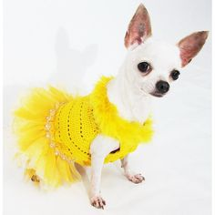 Dog Dresses Summer Clothes Pet Clothes Crystal Rhinestone Teacup Chihuahua Fashion Dress DF13 Myknitt - Free Shipping
