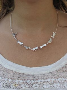 Siberian Husky Team necklace sterling by SiberianArtJewelry