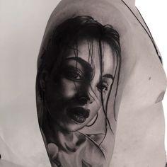 #tattoos #womantattoo #tattooart Tattoos For Women, Portrait, Instagram, Woman Tattoos, Headshot Photography, Portraits, Tattoo Women