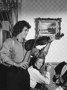 Pa playing the fiddle - 10 Things Pa Taught us About Life in Little House on the Prairie