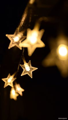 Shallow Focus Photography of Yellow Star Lanterns · Free Stock Photo Led Fairy Lights, Twinkle Lights, Christmas Images, Christmas Lights, Diy Christmas, Star String Lights, Star Lights, Star Lanterns, Wholesale Home Decor