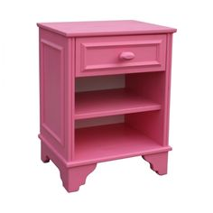 Houten nachtkastje van Lief! #roze