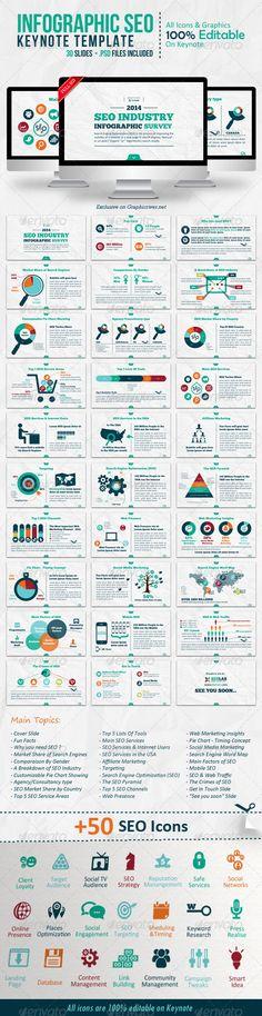 Infographic SEO Keynote Template | Keynote theme / template