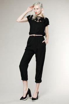 Vintage 80s Mesh Cut Out Jumpsuit #vintage #jumpsuit #vintagejumpsuit #thriftedandmodern #newarrivals