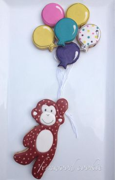 Best of Boys Birthday Up Up and Away Little Monkey Fernwood Cookie