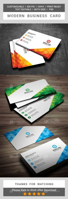 Carte De Visite Cartes Modernes Conception Idees Logo