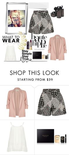"""Sin título #923"" by lululafitte on Polyvore featuring moda, Haute Hippie, River Island, Topshop, Zizzi, Gucci y Urban Decay"
